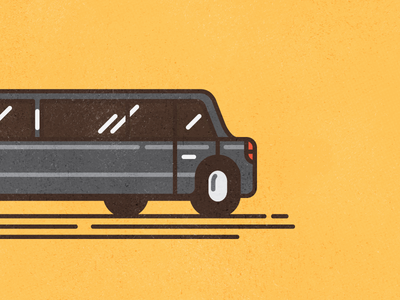 Stretch #2 limousine thick lines texture line illustration car bad joke stretch limo