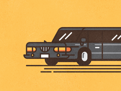 Stretch #1 fun cute simple limousine thick lines texture line illustration car stretch limo