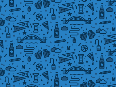 Beer Mat Pattern bridge tyne thick line icon icons meetup dribbble newcastle beer line illustration pattern