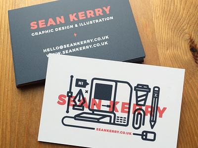 Business Cards minimal simple line design illustration print card branding business cards