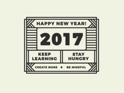 2017 Goals badge thick line title editorial 2017 goals creative post blog design
