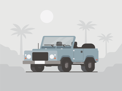 Adventure awaits truck fun spot editorial blog land rover illustration flat car