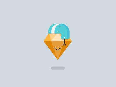 Sketch crash illustration flat design cute sticker fun helmet sketch