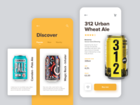 Beer App Concept design ios mobile discover minimal clean product ux ui concept app beer