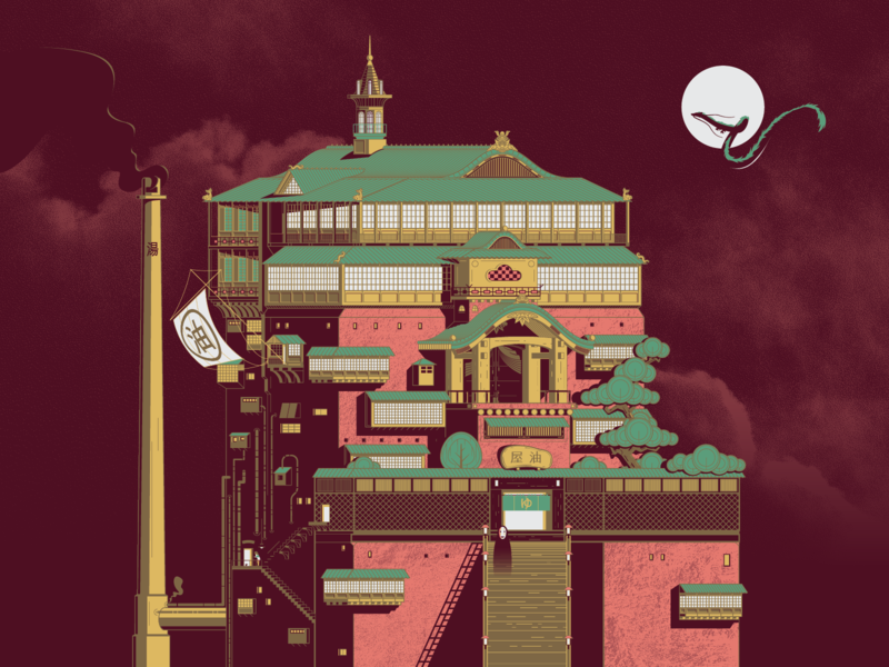Spirited Away Bath House