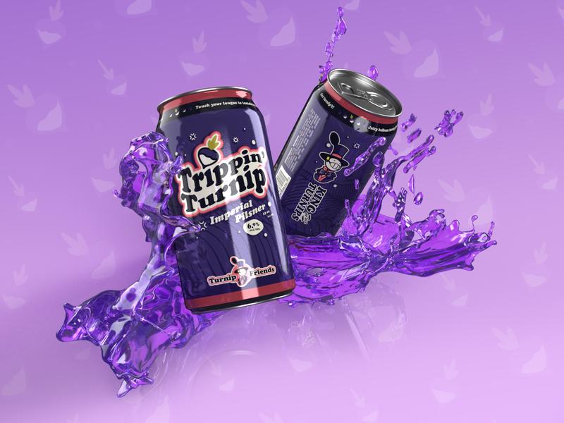 Turnip Beer is Probably Super Gross beer ghibli turnip howls moving castle typography 3d branding illustrator