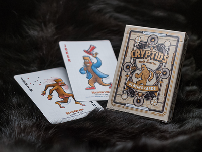 Cryptid Poker Deck vectror illustrator tuckbox branding packaging typography playing card poker cryptid