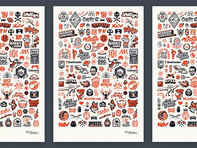 130 Logos duotone mark emblem branding icon poster typography vector illustrator logo