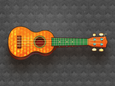 Uke guitar tropical music vector illustration hawaii design ukulele instrument