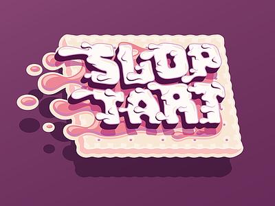 Sloptart typography vector frosting slang sloptart pastry toaster breakfast pop tart