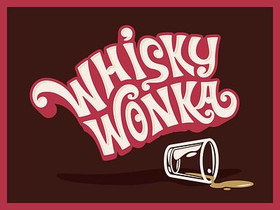 Whisky Wonka branding illustration illustrator typography logo vector whiskey whisky wonka willy wonka chocolate