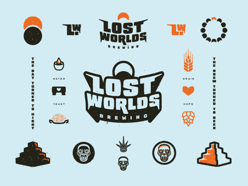 Lost Worlds Brewing Brand Elements