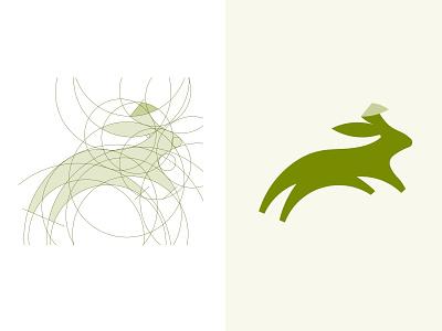 Golden Ratio - Rabbit brand mark custom made logo graphic design branding goldenratio original logo rabbits animal logo rabbit bunny logo visual identity perfect logo constraction logo process inpetor logodesign logo design grid logo golden ratio logo golden ratio