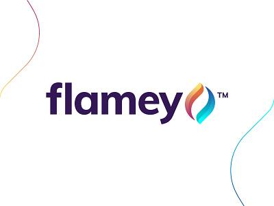 Flamey - Logo Design presentation illustration branding abstract colorful logo ashpetor inpetor logo designer firewood fuel firework eco energy light burn symbol gradient logo flame logo fire flame