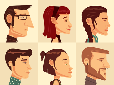 Locals people illustration flat design character
