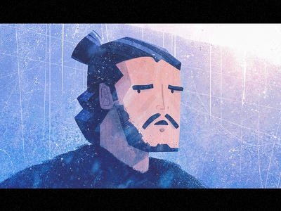 Nightwatcher snow ice illustration got winter game of thrones john snow jon snow