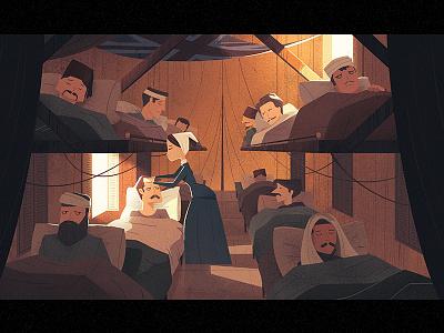 Florence Nightingale flag crimea woman illustration light tent history hospital soldier war nightingale nurse