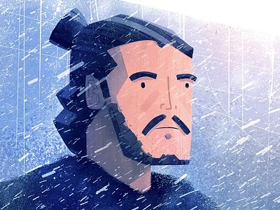 On the way home winter thrones game illustration animation jon snow jon ice got game of thrones