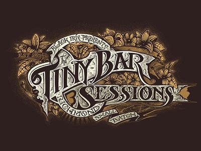 Tiny Bar logo handlettering tiny bar richmond
