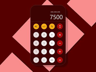 Calculator design web ui dailyuichallenge