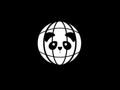 Panda global vector logo branding illustration minimal graphic design design dailylogochallenge