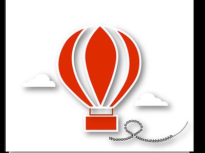 Hotair Balloon logo minimal illustration dailylogochallenge graphic design design