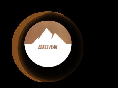 Brass peak dailylogochallenge logo branding minimal illustration graphic design design