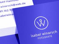 Isabel Winarsch — Visual identity
