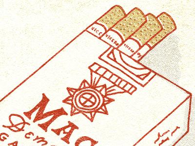 Mac Demarco Close up music cigarettes typography illustration design