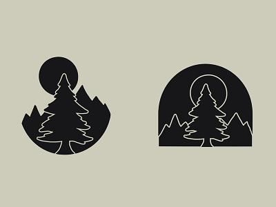 Trees of the Wild graphic design patch tree handmade illustration design
