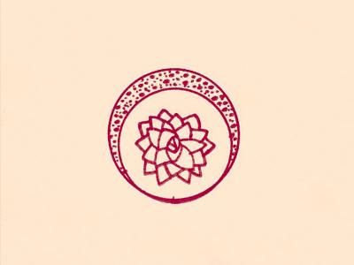 Moon Flower graphic design flower moon plant handmade illustration design