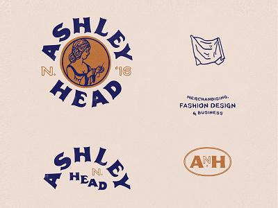 Fashion Logos & Branding fashion design graphic design branding logos typography type fashion fabric handmade illustration design