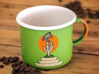 Vulture and Cactus Camp Mug