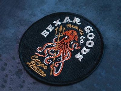 Octopus and Trident Patch