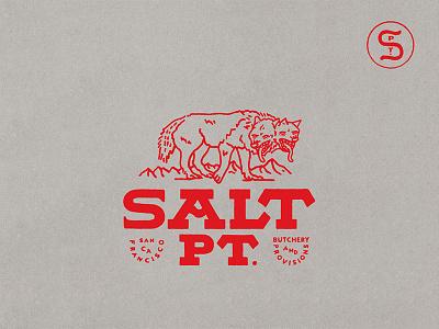 Salt Pt. Butchery & Provisions Branding illustration graphic design type design letter lettering monogram california