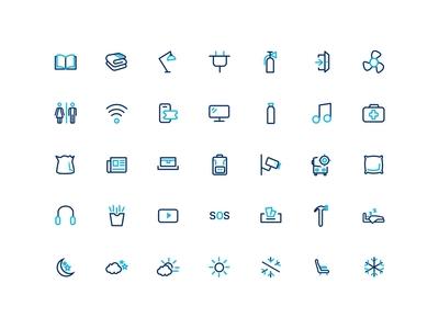 Bus Amenities Icons