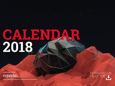 Calendar 2018 by Nopeidea® powered design galasso daniele digital art free download fanpage facebook nopeidea promotion calendar