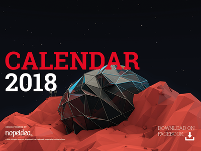 Calendar 2018 by Nopeidea®