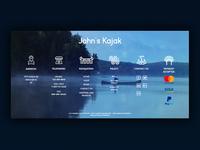 Ui/Ux - John's Kayak - Template - Footer
