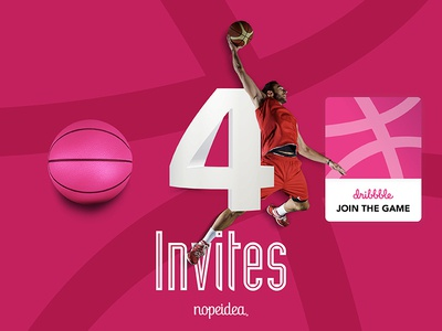 4 Dribbble Invite - Nopeidea®