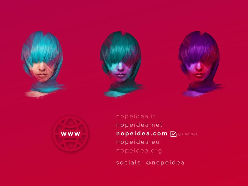 Nopeidea®'s domains behance digital art portfolio art brand dribbble galasso daniele branding family digital web graphic design domains nopeidea
