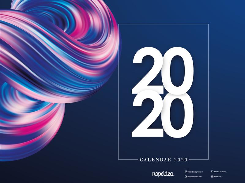 Digital Art Calendar 2020 by Nopeidea® - Free Download promo portfolio galasso daniele graphics photobashing photoshop design graphic artist behance art digital 2020 calendar nopeidea download free
