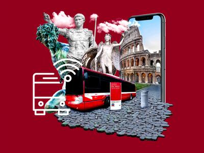 UI/UX - Atac - Rome designs photoshop ui visual identity branding idenity web graphic design galasso daniele nopeidea photocomposition italy rome uidesign ux