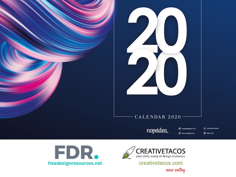 Digital Art Calendar 2020 by Nopeidea® - Collaborations digital art calendar behance project 2020 calendar 2020 calendar design collaboration dribbble free download digital galasso daniele behance portfolio brand art graphic design nopeidea