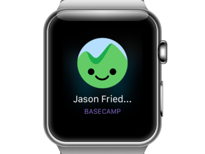 Basecamp pinged you apple watch basecamp app