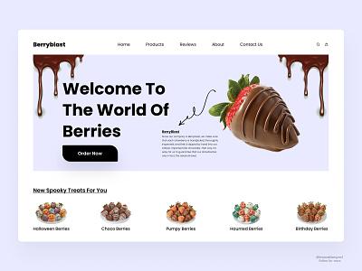 Berryblast- Landing Page Design print mobile minimal design typography product design landing page art motion graphics graphic design 3d branding ui design digitaldesign logo webdesign illustration flatdesign animation innovationsync