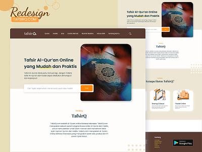 Redesign Website of Tafsirq.com user experience user interface redesign website ux design beige brown webdesign tafsir muslim redesign design ui design website uiux ui