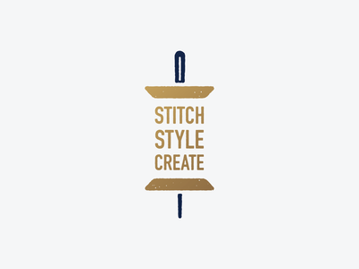 Stitch, Style, Create threads illustration needles sewing icon typography vector logotype needle and thread typogaphy design graphic mark icon symbol logo 3d mark branding brand needle thread logo