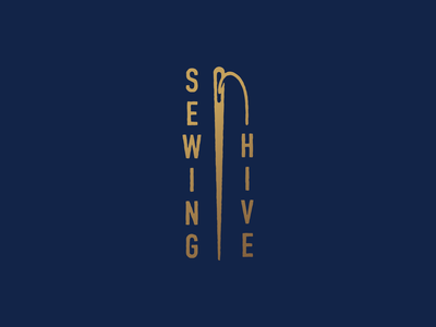 Sewing Hive Sample Mark sew mark icon symbol lettering brand vector typography threads needles needle and thread needle illustration branding thread sewing logo mark graphic icon design