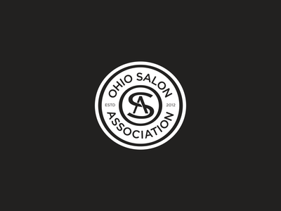 Ohio Salon Association Seal monogram seals brand identity identity vector design icon graphic typography brand mark branding agency cosmotology salon branding logo seal
